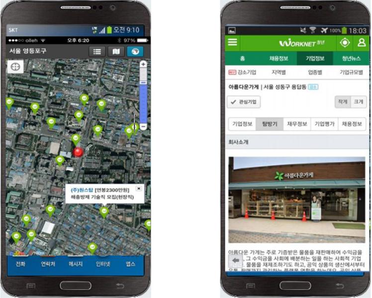 Gráfico 6. Modelo de Aplicación para telefonía móvil. República de Korea