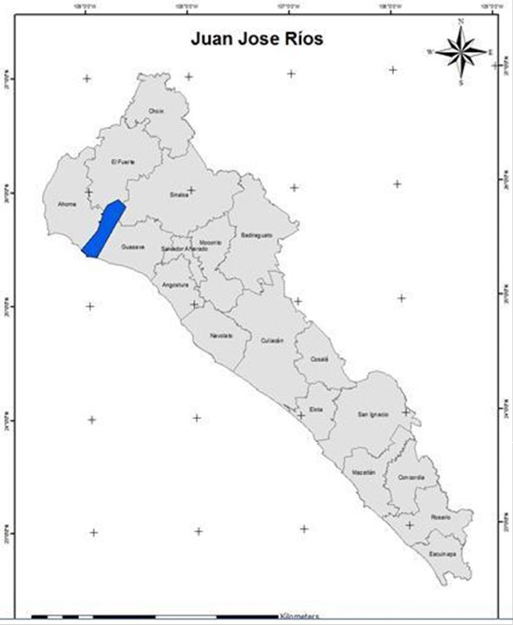 Mapa 1. Ubicación de la Sindicatura de Juan José Ríos