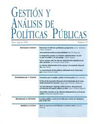 Cubierta de Gestión y Análisis de Políticas Publicas. Número 15