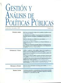 Cubierta de Gestión y Análisis de Políticas Publicas. Número 16