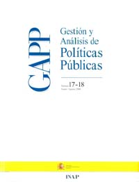 Cubierta de Gestión y Análisis de Políticas Publicas. Números 17-18