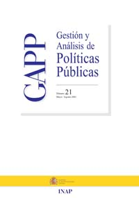 Cubierta de Gestión y Análisis de Políticas Publicas. Número 21