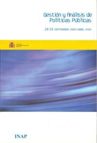 Cubierta de Gestión y Análisis de Políticas Publicas. Números 28-29