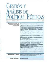Cubierta de Gestión y Análisis de Políticas Publicas. Números 13-14