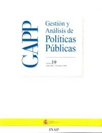 Cubierta de Gestión y Análisis de Políticas Publicas. Número 19