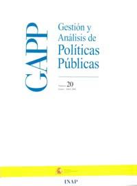 Cubierta de Gestión y Análisis de Políticas Publicas. Número 20