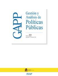 Cubierta de Gestión y Análisis de Políticas Publicas. Número 22