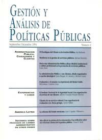 Cubierta de Gestión y Análisis de Políticas Públicas. Número 1