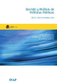 Cubierta de Gestión y Análisis de Políticas Publicas. Números 30-31