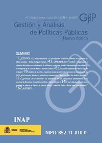 Cubierta de Gestión y Análisis de Políticas Públicas. Nueva Época. Número 5
