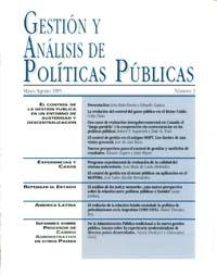 Cubierta de Gestión y Análisis de Políticas Publicas. Número 3