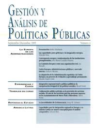 Cubierta de Gestión y Análisis de Políticas Publicas. Número 4