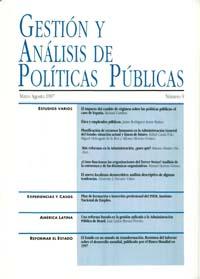 Cubierta de Gestión y Análisis de Políticas Publicas. Número 9