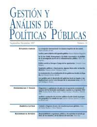 Cubierta de Gestión y Análisis de Políticas Publicas. Número 10