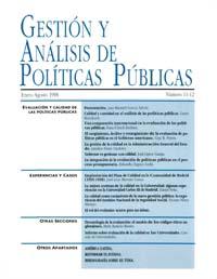 Cubierta de Gestión y Análisis de Políticas Publicas. Números 11-12